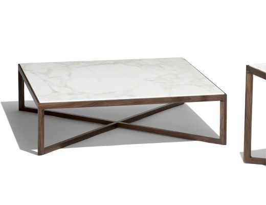 Krusin side tables with calacatta marble west hollywood for Table 0 5 ans portneuf