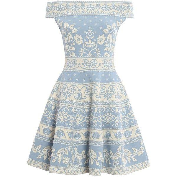 Off Shoulder Dress ($1,321) ❤ liked on Polyvore featuring dresses, womenclothingdresses, viscose dress, white dress, white rayon dress, alexander mcqueen dresses and off the shoulder dress