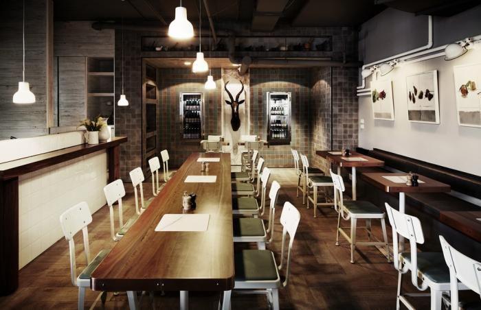 Industrial Chic in Melbourne: The Outpost Dining RoomDining Rooms, Outpost Dining, Hassel, Cafes, Architecture Interiors, Interiors Design, Restaurants Design, Interiordesign, Bar