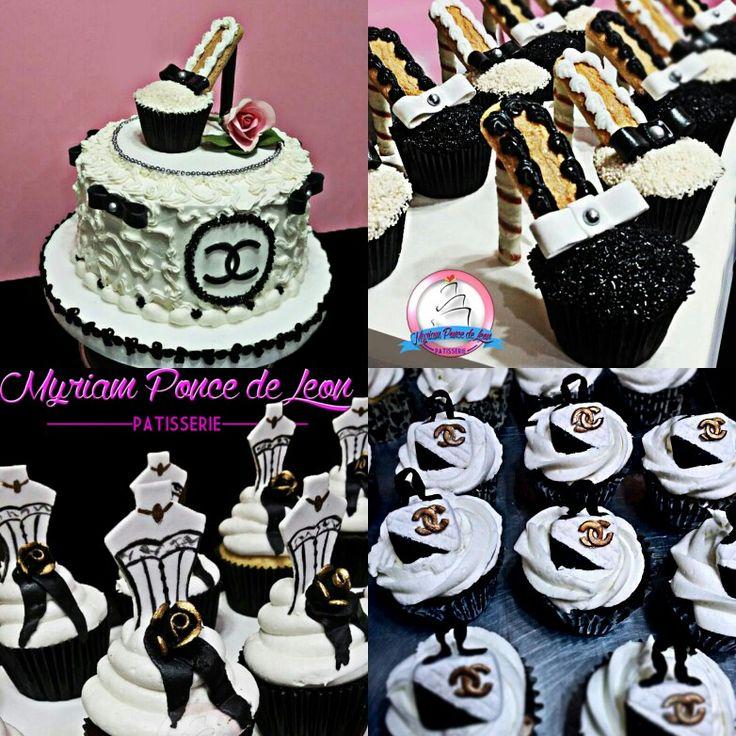 Torta cupcakes y mesa dulce