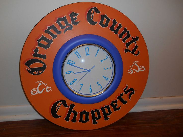 "Orange County Choppers 22"" Wall Clock Man Cave Diva Den"