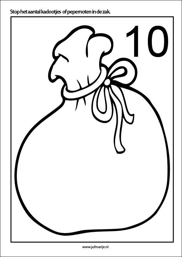 Pakjes of pepernoten kleien, 10 kaarten - Sinterklaas