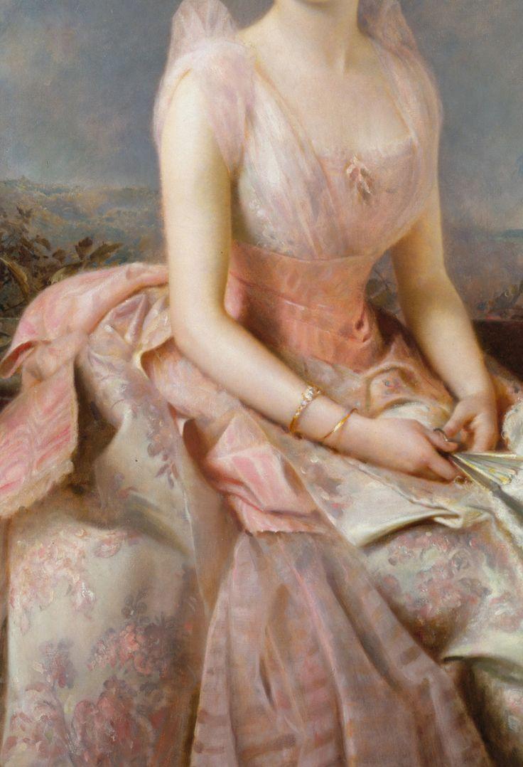 """c0ssette: """" Edward Hughes,Juliette Gordon Low (1887) detail. """""""