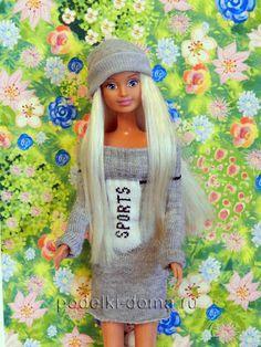 Как сделать платье для Барби из носка? Творчество. Рукоделие. Хэндмейд. Одежда для Барби своими руками.