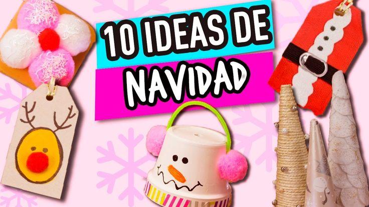 ¡10  Ideas para Navidad Super Fáciles!   Manualidades para Navidad   Cat...