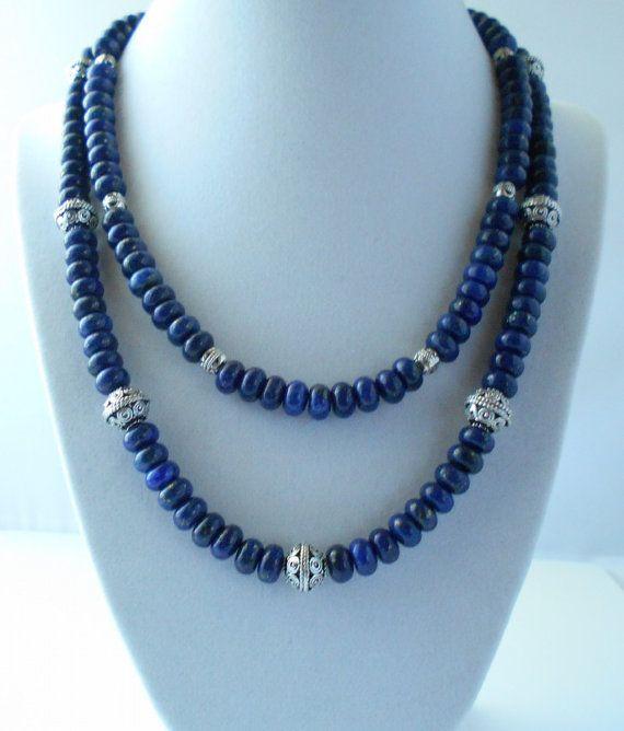 Blue lapis lazuli necklace Lapis lazuli jewelry by NaulasJewelry, $98.50