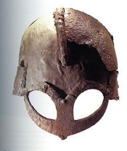 Viking helmet from Gjermunbu, Ringerike, Norway. C 950, Peter Harholdt for Smithsonian Institution, Universitetets Oldsaksamling, Oslo
