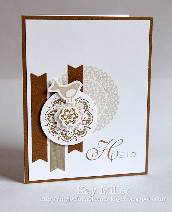 Stamping Ideas For Card Making Part - 48: Beautiful Brown On White #card By Kay Miller. #cardmaking #papercrafting