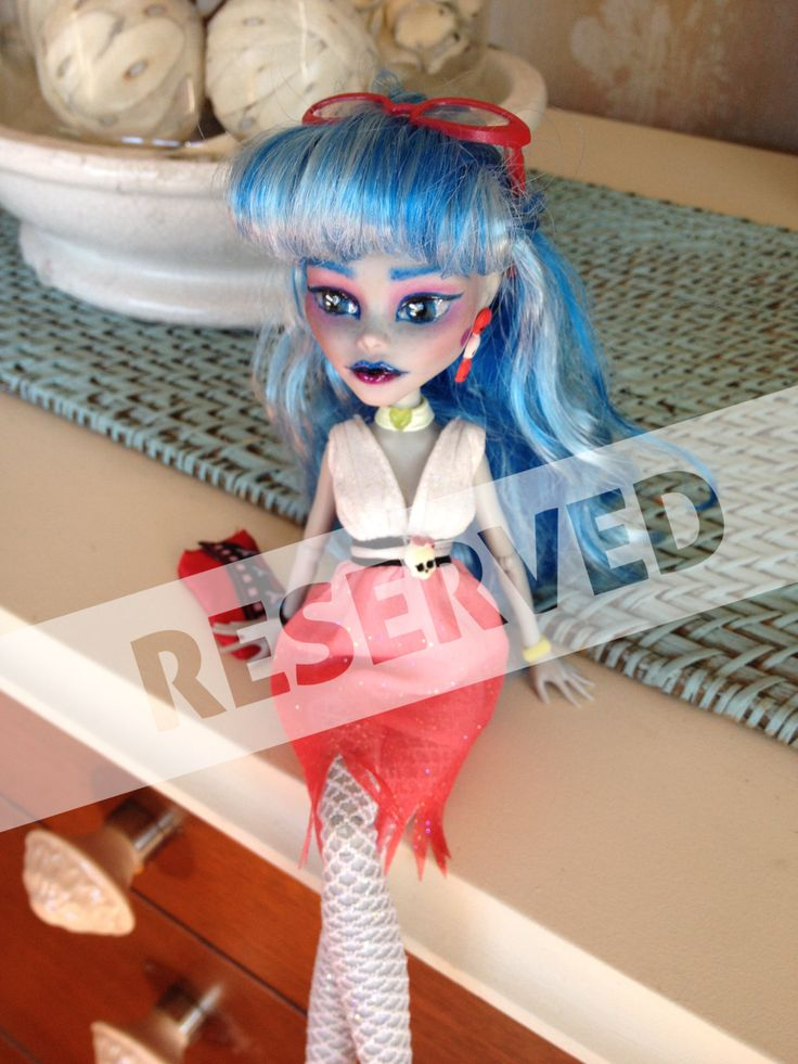 OOAK Monster High Repaint Ghoulia Yelps RESERVED by BuiltByBecca