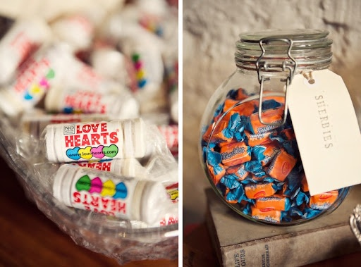 Vintage wedding candy lolly buffet via The Velvet Bow