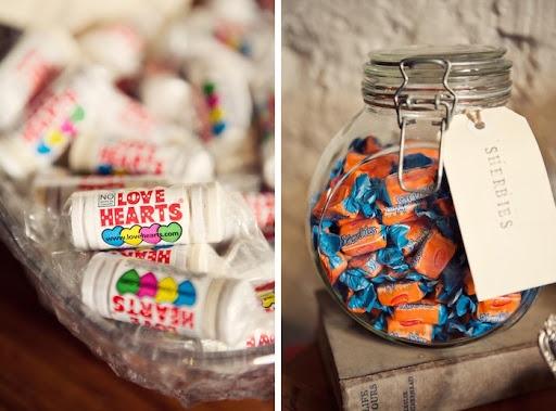Vintage wedding candy lolly buffet via The Velvet Bow