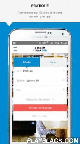 Logic-immo.com  Android App - playslack.com ,  Retrouvez plus d'1 million d'annonces immobilières sur la nouvelle application Tablette et Smartphone de Logic-immo.com.Nos annonces immobilières sont issues de nos agences immobilières partenaires partout en France pour acheter ou louer votre futur appartement ou votre future maison.L'application Logic-immo.com de recherche d'annonces immobilières à la vente et à la location c'est : Un moteur de recherche complet pour rechercher... • des…