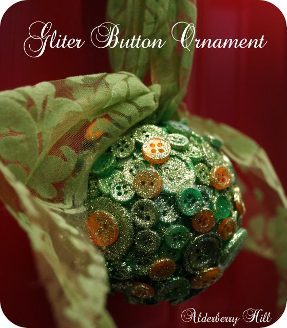 Glitter button ornament