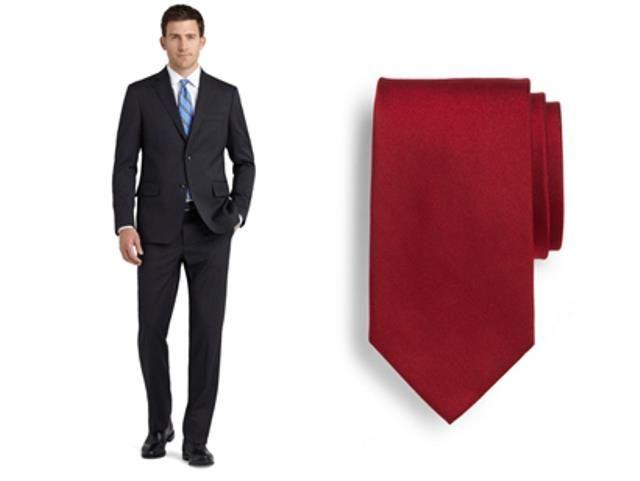 Мужская рубашка и красный галстук для собеседования мужчине