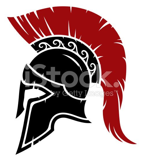 Spartan warrior helmet royalty-free stock vector art