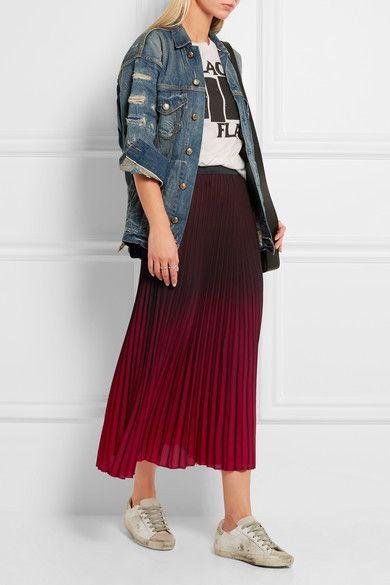 Merlot and red crepe Slips on 100% polyester; trim: 88% polyester, 12% elastane…