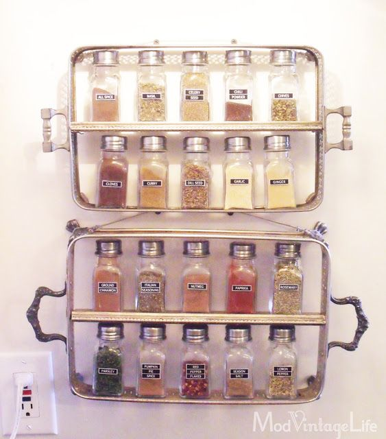 Silver Spice Rack at ModVintageLife.com