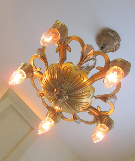Antique Lincoln Electric Chandelier Rewired And Red
