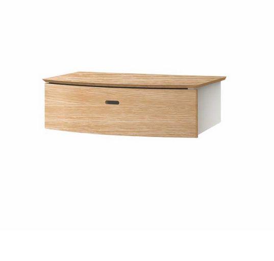 TWIST PLUS wisząca półka z szufladą do przedpokoju