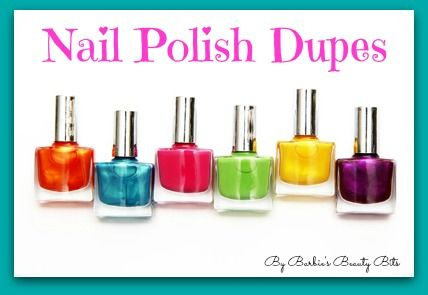 Nail Polish Dupes That Nailed It, By Barbie's Beauty Bits