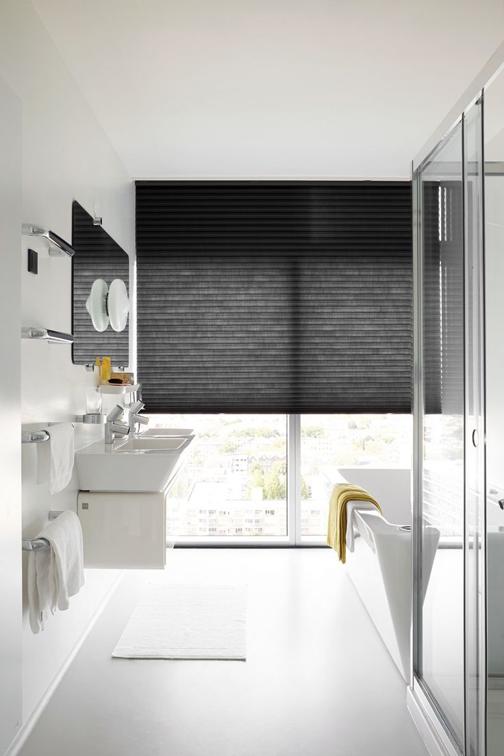 Clean Black White Yellow Bathroom Bathroom