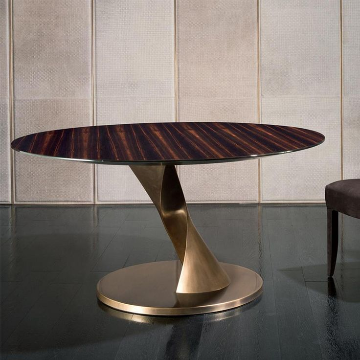 Nella Vetrina Rugiano Zoe Ebony Wood Dining Table With Bronze Base Find This Pin And More On Furniture By Ladeuxhk 13 Modern Tables From Top Luxury