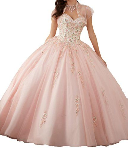 54c71981df0 Great for DKBridal Women s Sweetheart Embroidery Quinceanera Dresses  Appliques Sweet 16 Ball Gown online.   139.99  allfashiondress from top  store