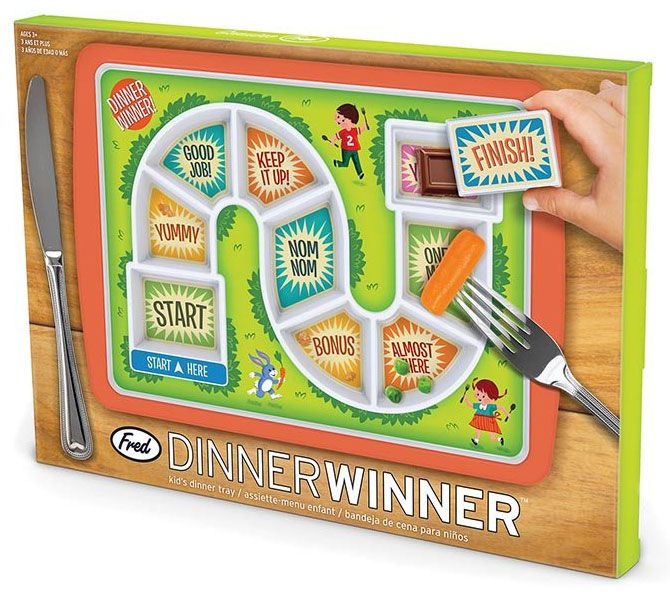 Dinner Winner Fun Melamine Meal Tray For Kid from Sarah J Home Decor....$29.95