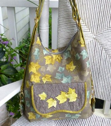 The Cosmo Convertible Bag - Pattern by StudioKat Designs + Teach Yourself to Sew: Bias Binding  #sewing