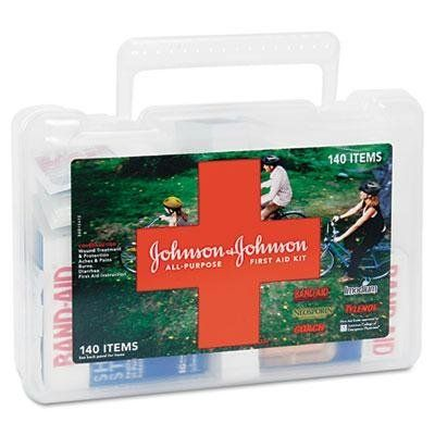 Johnson & Johnson Red Cross All-Purpose First Aid Kit - All Purpose First Aid Kit, 140 Pieces, Plastic Case by Johnson & Johnson Red Cross. $36.84. First Aid Kits. Breakroom And Janitorial. Coverage for wound treatment and protection, aches, pains and burns. Includes 140 assorted first aid items and instructions. Number of Pieces: 140 Contains: Adhesive Bandages Tylenol Antibiotic Ointment.Unit of Measure : Each