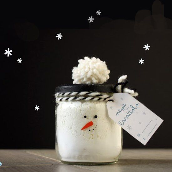 """""""The snow in the jar"""": the baking soda playdough kit. The last minute D.I.Y. gift for kids ready to use. (in Italian)"""