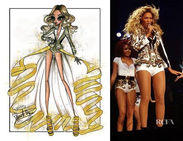Beyonce Knowles In Dsquared² – Mrs Carter Show World Tour