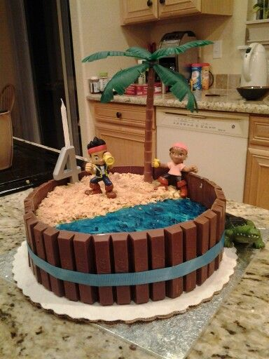 Jake and the Neverland Pirates Cake : thank you Auntie Amy, #1 will love this!!