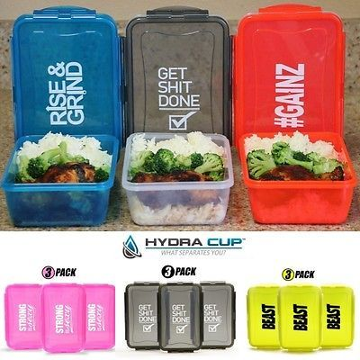 Hydra-Cup-Meal-Prep-Motivational-Plastic-Food-Containers-Storage-Leak-Proof-Gym
