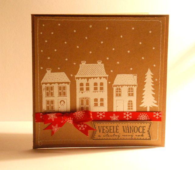 Winter village razítko od Pretty Papers: