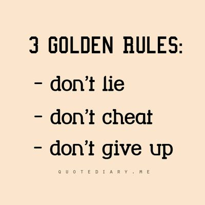 #quotes #life GOLDEN RULES