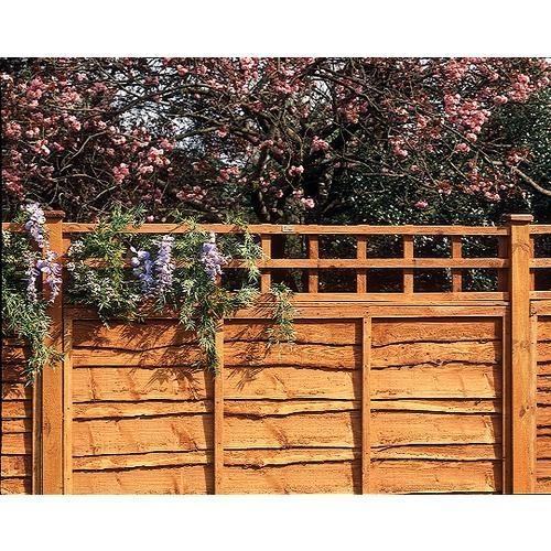 Fence Top Trellis Square Lattice 6x1ft Trellis