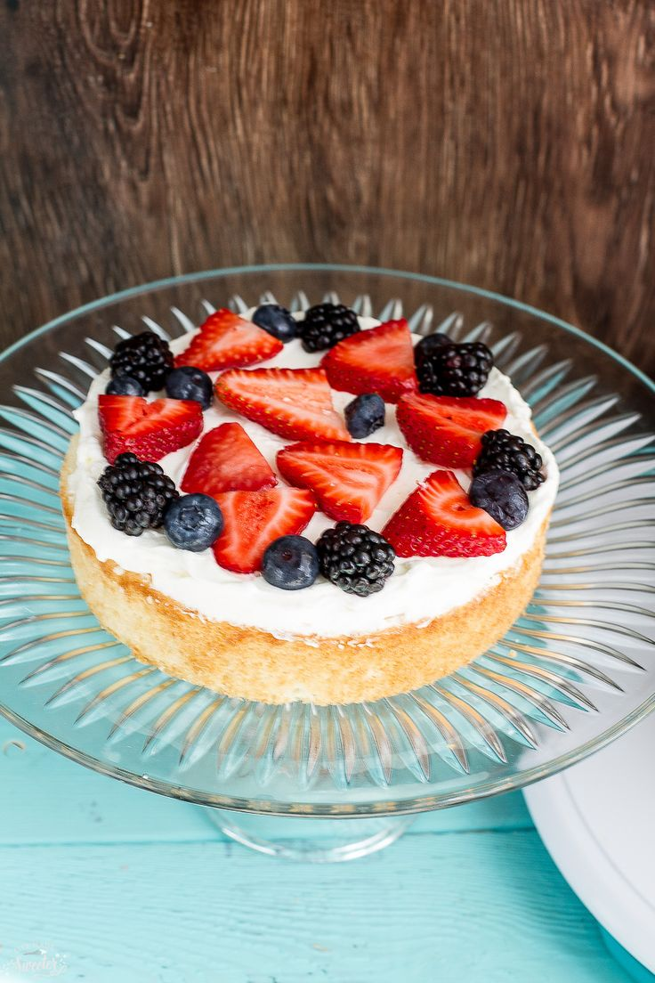Berries and Cream Sponge Cake makes the perfect dessert for summer