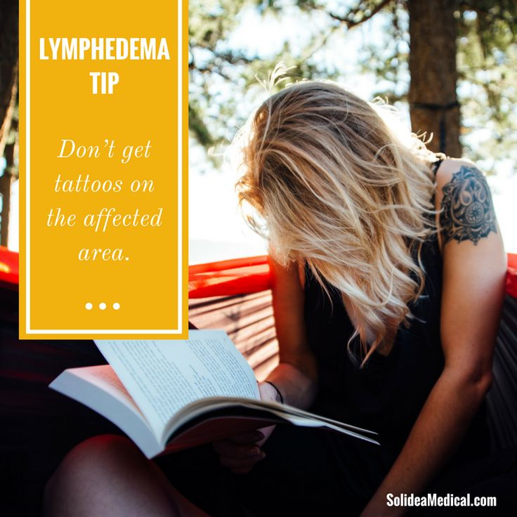 #Lymphedema Tip: Don't get tattoos on the affected area. #mylymphedemalife