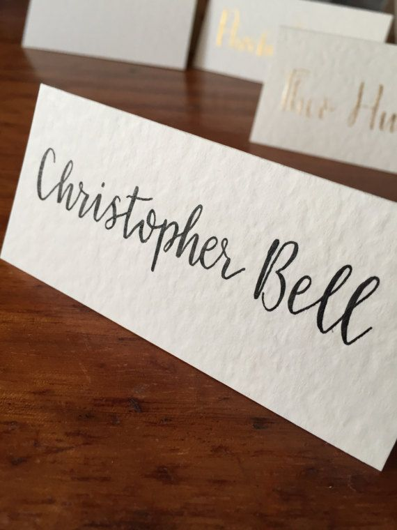 Wedding Place Cards Calligraphy by MomentsByRA on Etsy
