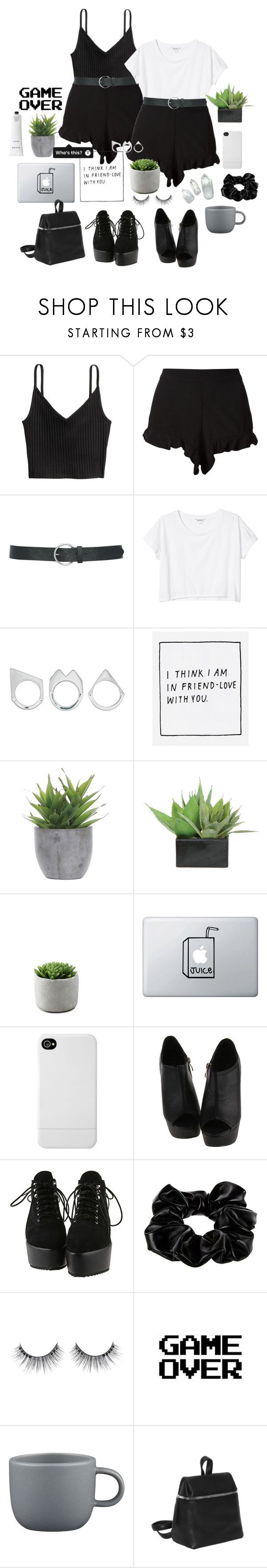 """4O ❁❤♡"" by r-elentless ❤ liked on Polyvore featuring H&M, Sam&Lavi, M&Co, Monki, Moratorium, Yumi, Lux-Art Silks, Incase, River Island and WALL"