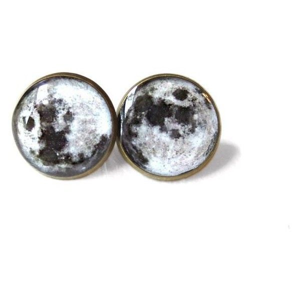 Moon Stud Earrings Pastel Goth Soft Grunge Pop Culture Jewelry Hip Liked On Polyvore Featuring