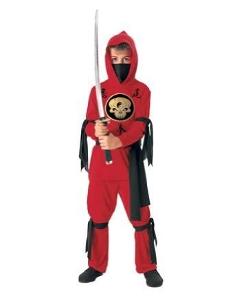 Halloween Concepts Child's Red Ninja Costume, Small --- http://www.pinterest.com.mnn.co/3l