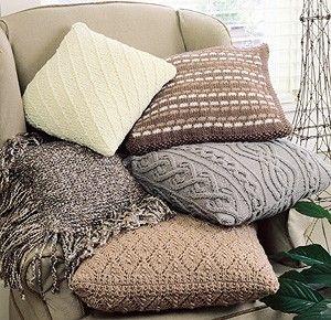 Five Classic Knit Pillow Designs ePattern - Leisure Arts