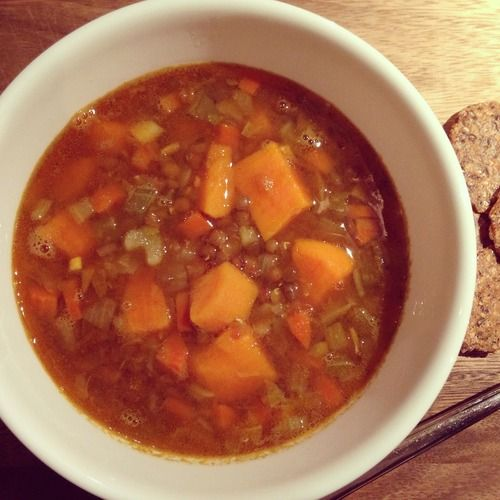 Sweet Potato, Lentil and Turmeric Stew #healthy #comfortfood #MWHRecipes