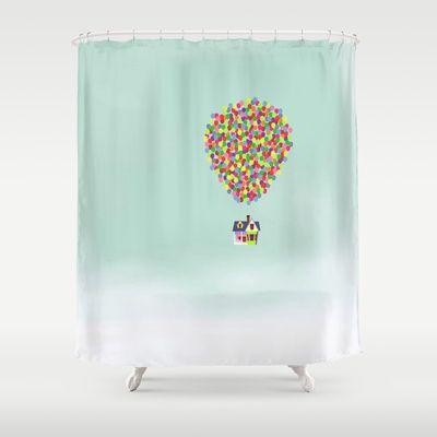 Up Shower Curtain by Derek Temple - $68.00