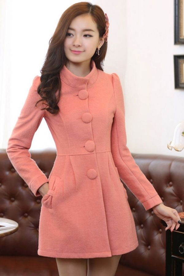 Captivating Bowknot Deco Woolen Coat - OASAP.com