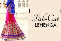 Fish Cut Lehenga Choli