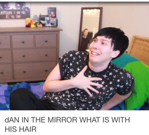 It's all flippy and cute! Phil looks adorable in this picture too!