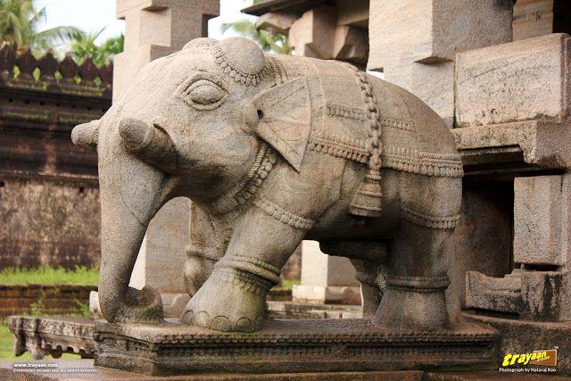 Elephant balustrade of Thousand Pillared Jain Temple in Moodabidri, near Mangalore, #Karnataka #India #IncredibleIndia #Travel #Heritage